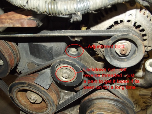 Need Help With 1995 Compressor Belt Adjusment Toyota