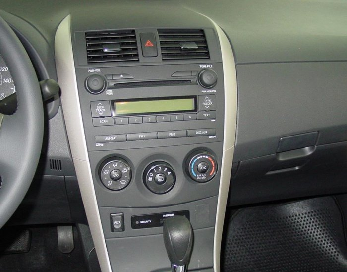 broken aux input toyota corolla sport 2009 toyota. Black Bedroom Furniture Sets. Home Design Ideas